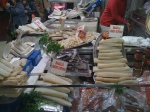 Salted fish, and meats.