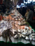 Seafood, larger stand